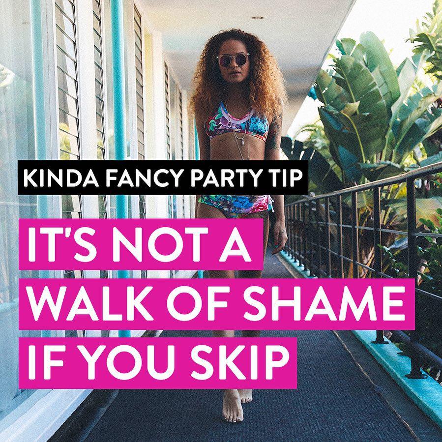 Weekend wisdom #kindafancy #partytips #walkoffame