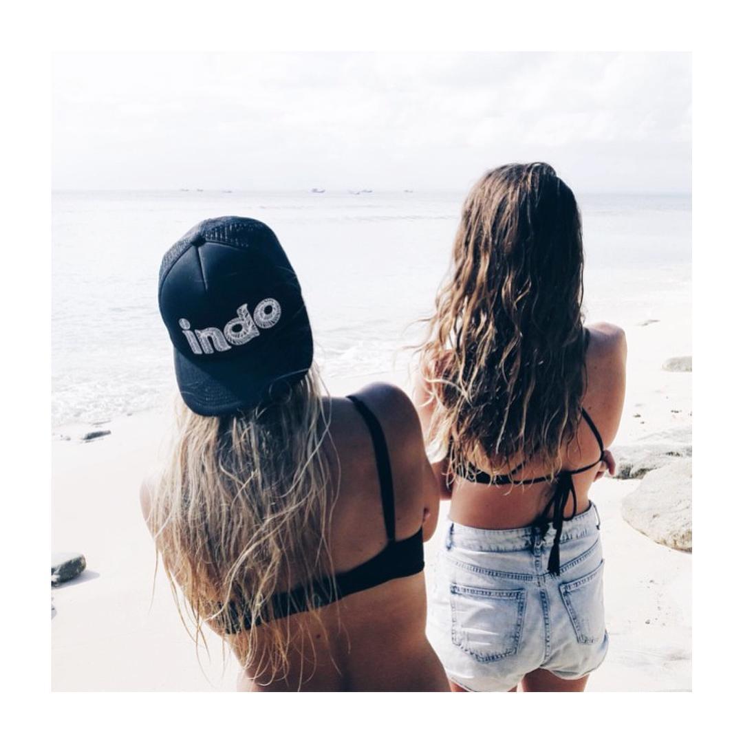 Beach hair, beach babes.