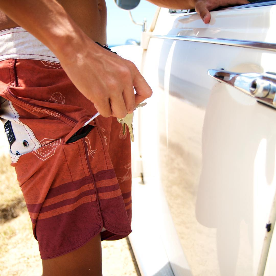 One our favorite features of the new noRep x @dcasted boardshorts is the stash pocket! Perfect for storing the keys to your ride while you're out riding the waves! Get your pair now at norepboardshorts.com