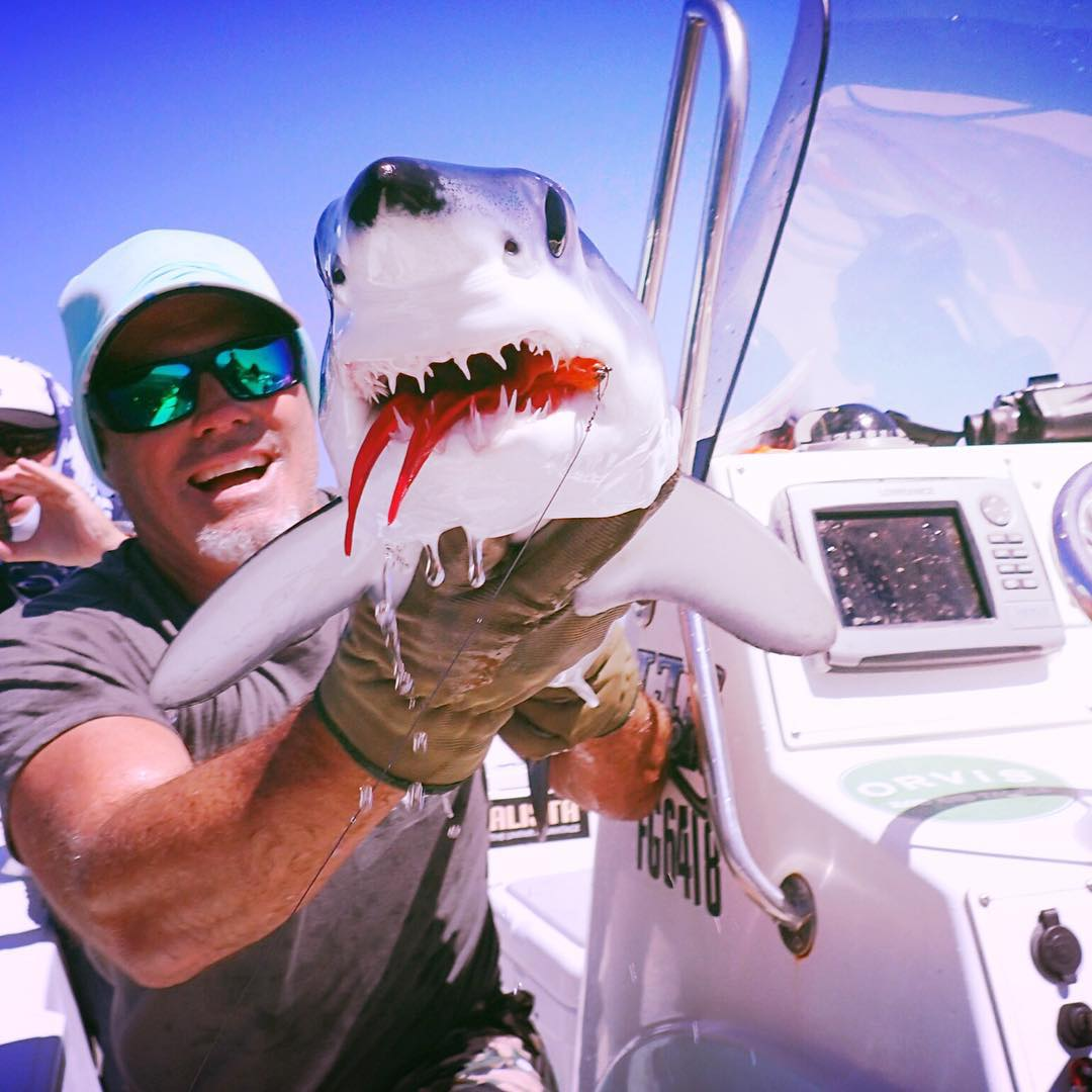 It's always #sharkweek for @conwaybowman!  #SEEHAPPY like our resident angler and Mako shark conservationist in the #HappyLens with green spectra.