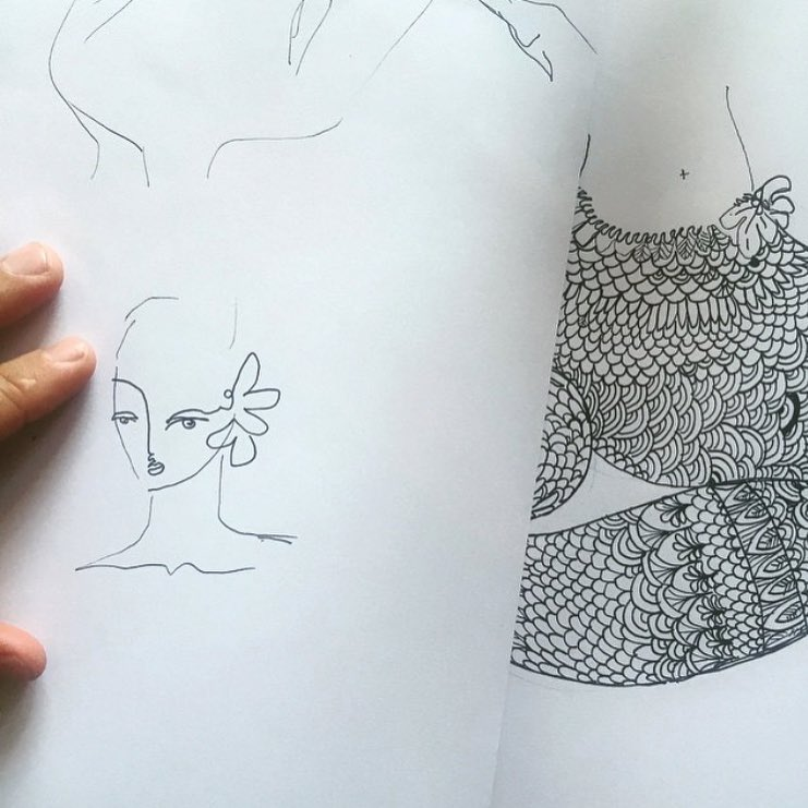 Putting pen to paper is good for you. Think of it as Vitamin Ink. Some mermaid sketches from @jaivasicek to get you inspired to put pen to paper this weekend. #AllSwell