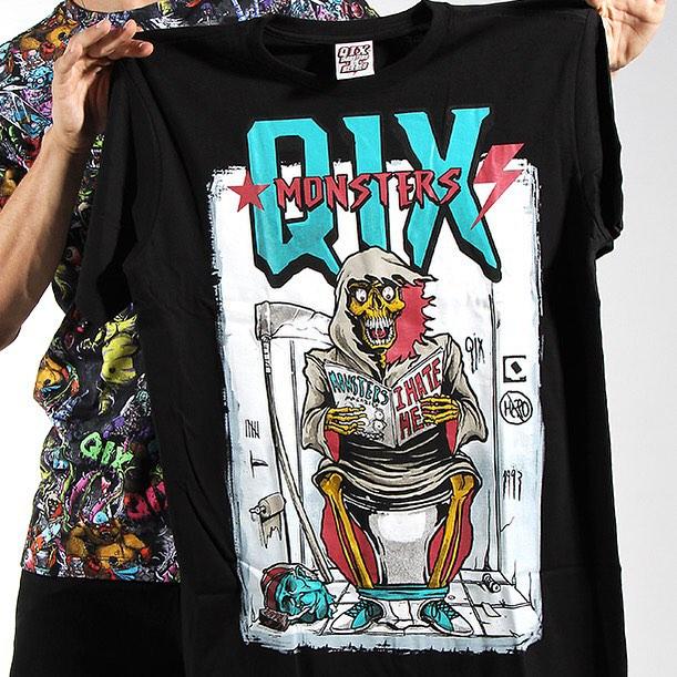 Que tal as camisetas #QIX Monsters? Compre pela nossa loja virtual. Entrega para todo o Brasil! www.qixskateshop.com.br  #qix #skate #camiseta #monster #inverno #inverno2015 #qixskateshop