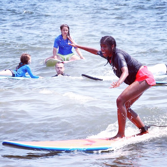 A perfect stoked moment! #youth #surf #surfer #surfergirl #surfing #surfsup #surfboard #community #achieve #accomplishment #motivation #determination #mentor #volunteer #waves #water #ocean #citylife #makeithappen #challengeyourself #success #happiness...