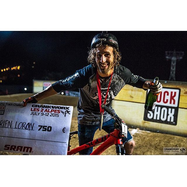 Long live the king!  Congrats to @adrienloron for reclaiming his Pump Track crown at @crankworx Le Apls 2. The last time the title was his was 2013.