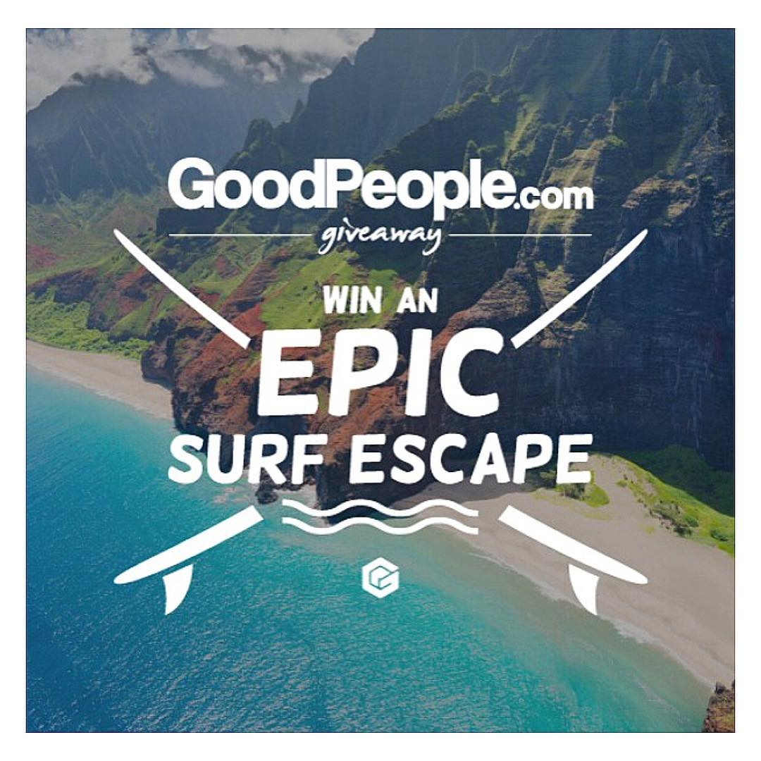 Happy Aloha Friday from our partners @goodpeoplecom! Enter to win an #EpicSurfEscape by clicking on their profile link & to view the full lineup team of Good People market brands that have created the most Epic surf trip package ever to stoke you out...