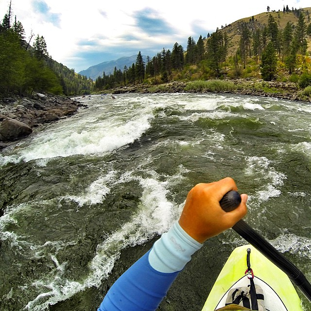 Rapids all day 'erry day on the #middlefork of the #salmonriver. @badfishsup @boardworkssurfsup #welivewater @gopro @goprogirls_