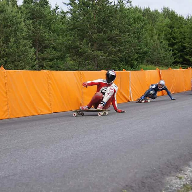 Checkin it once, checkin it twice, teammates @henningpat and @ali_nas are feeling fast at the @idfracing #Lillehammer downhill race in Norway. With 6 hairpins and epic scenery it's a race you don't want to miss.