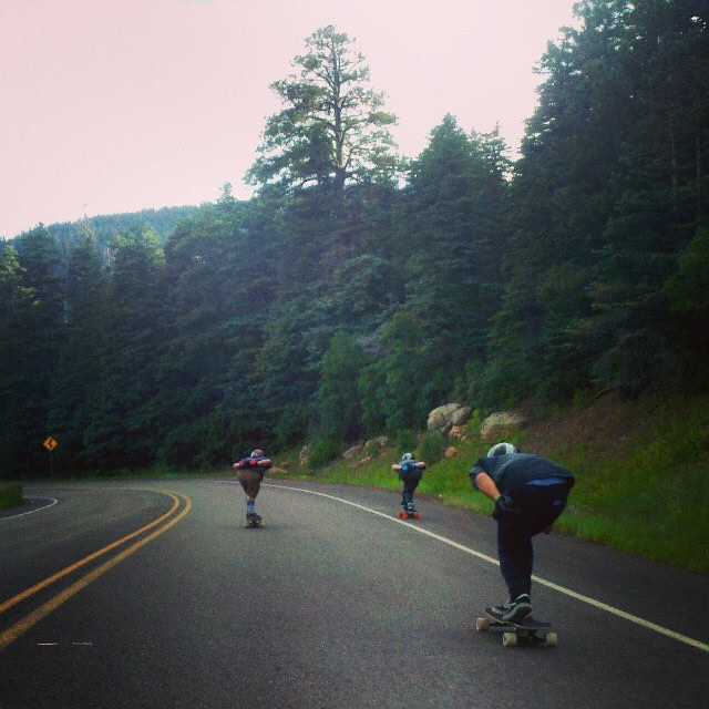 Get out and go skate!  Pack runs with Team rider Adrian Da Kine--@adrian_da_kine and the Crestsider riders!  #adriandakine #bonzing #downhill