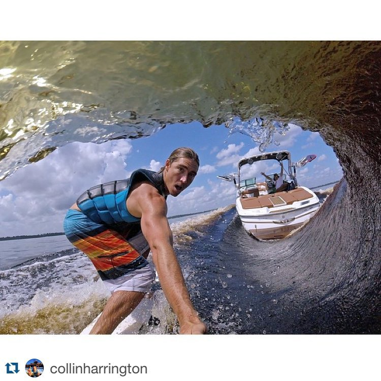 #Repost @collinharrington ・・・ The new #GoPro #Hero4Session likes to get tubed just as much as I do. #FreshWaterTubes @gopro