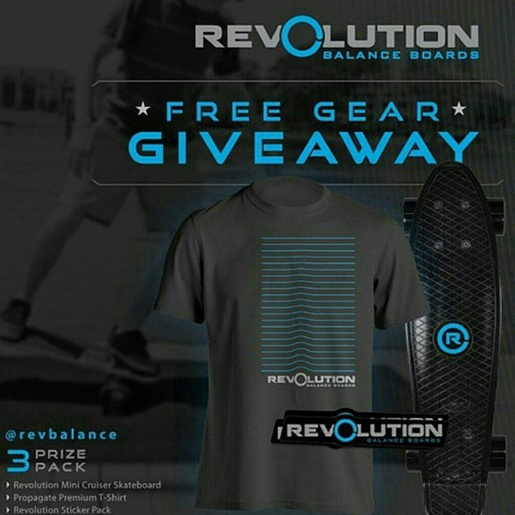 ONLY 2 DAYS LEFT!!! We'll be drawing our winner for our 3 Pack Revolution Giveaway  in just a couple more weeks! Be Sure to get your entries in! ----------------------------------------------- Win A FREE Revolution Gear Pack • Revolution Mini Cruiser...