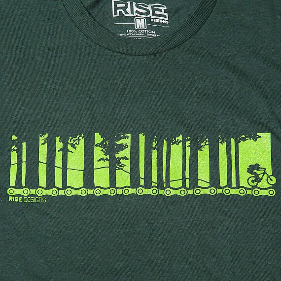 New tshirt design.... Biking through the forest. Available on our website and etsy store now. 100% ringspun cotton men's sizes M-XXL. #risedesigns #mountainbiking #meyersmtb #tahoemtb #tshirt