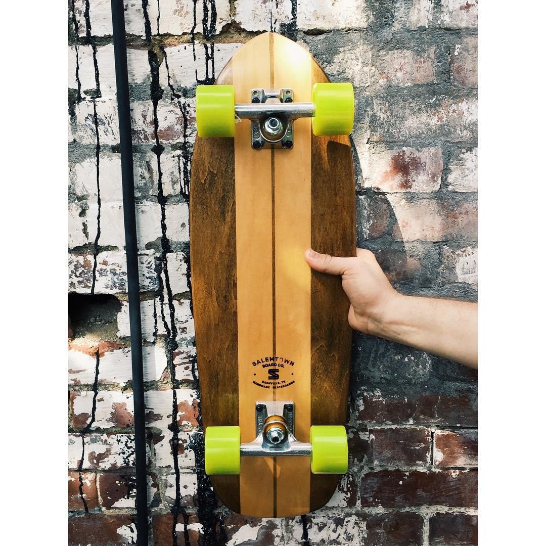 Add some joy to that Monday commute. #handmadeskateboard #Nashville #skate
