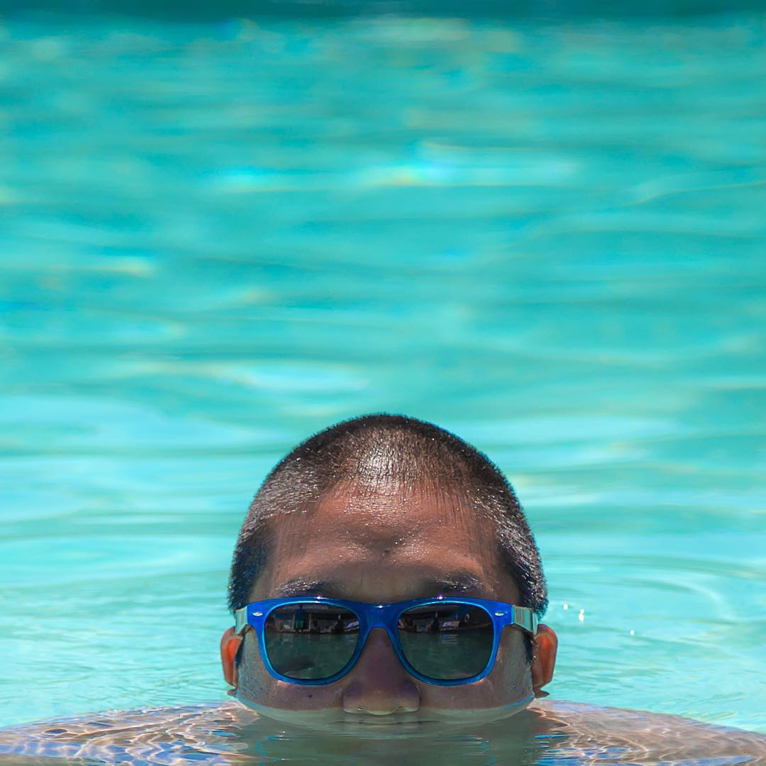 Stay cool this summer and take a dip in the pool, just like Ben!  #SOLOeyewear