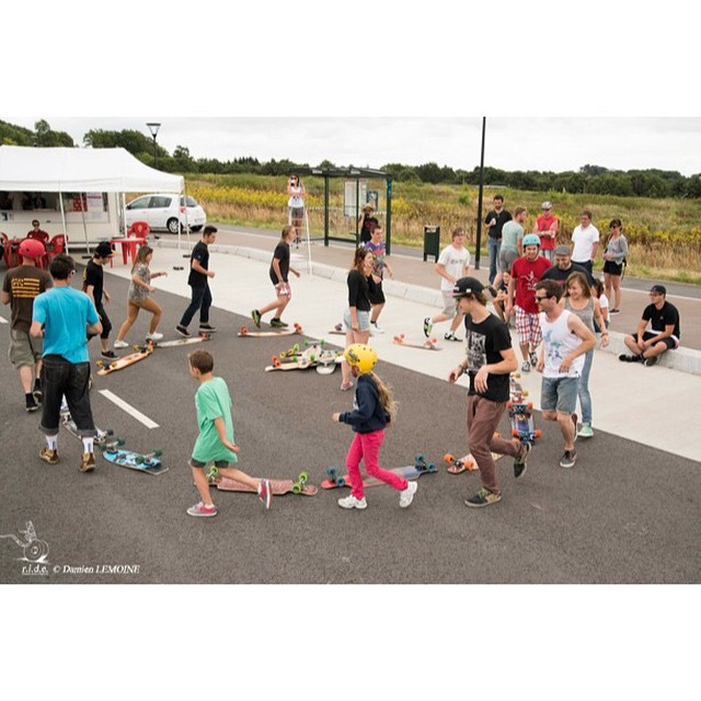 Longboard games this past weekend at the @docksession X Ground Master Clash festival #Nantes