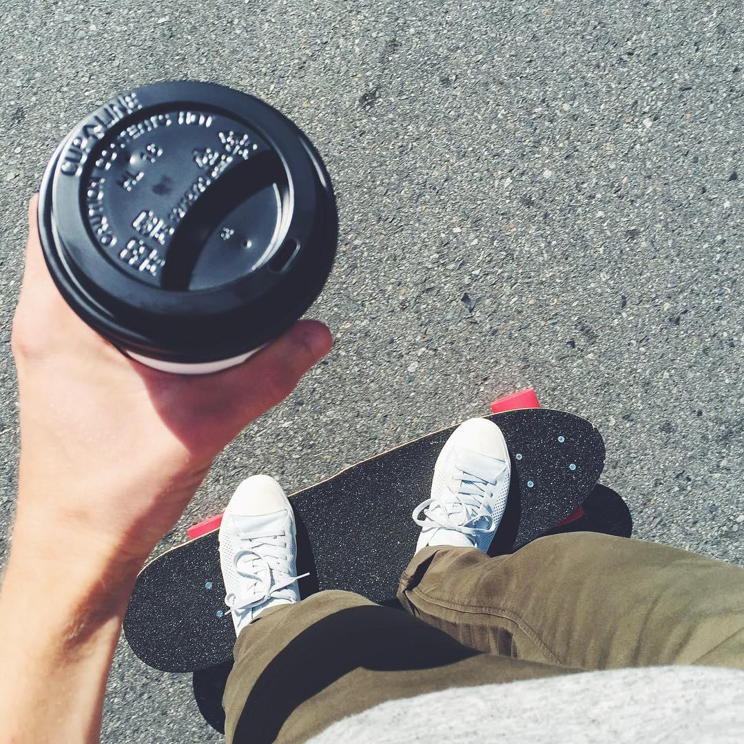Making monday morning coffee runs fun #cruisin #permissiontoplay #mondaymotivation