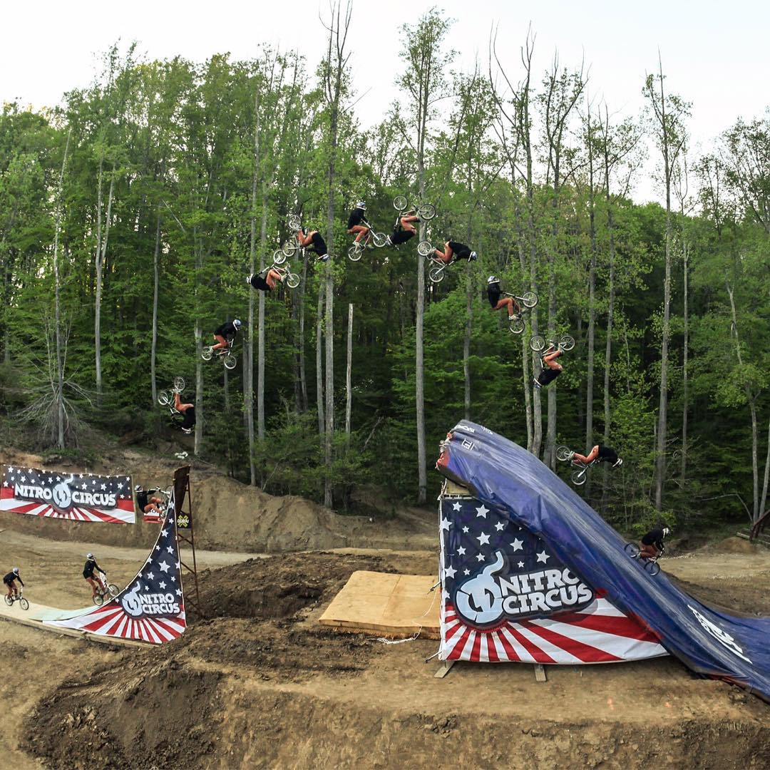 ICYMI: @jedmildon became the first person to ever land a quadruple backflip on a BMX bike!  Click the link on our profile page to check out the full clip. (