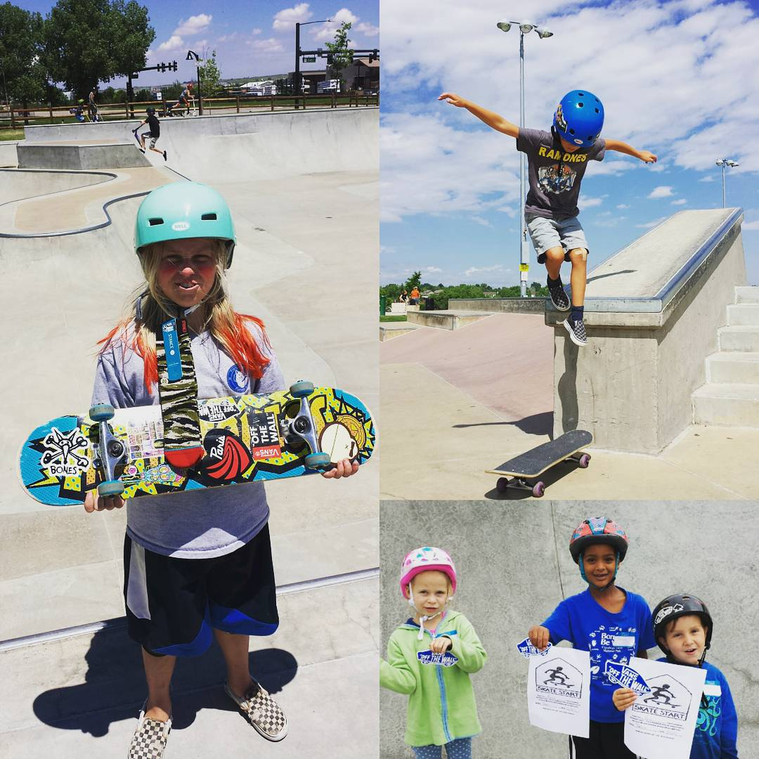 Great week in Parker and Wheatridge. The future looks bright. #stancesocks #ramones #vansoffthewall #boneswheels #trustthebum #skatestart #railbender #discoverypark
