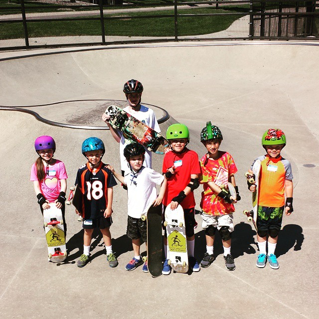 Summer is in 5th gear now. Camps this week in Wheatridge & Highlands Ranch where even MORE future skaters are born. #skatecamp #skatestart #redstonepark #discoveypark
