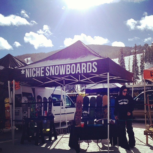 It's a beautiful day here at Copper Mountain! Come visit us and test some snowboards!