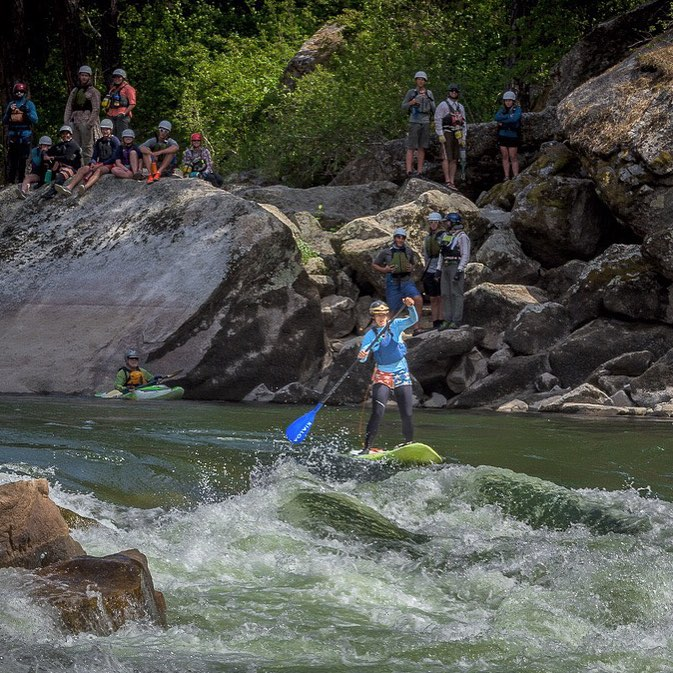 I love dropping into class 4 whitewater with a crowed. It provided some good information for the @nolsedu river course! #sup #NOLS #salmonriver @badfishsup @boardworkssurfsup #welivewater
