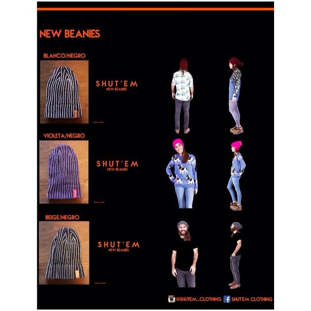 New Products ❗️ Shut'Em presenta los nuevos beanies.  Tremendo frío obliga a usar uno. Todavía no te llevaste el tuyo? Encargalo ahora! #new #winter #product #beanies #catalog #love #caps #clothing