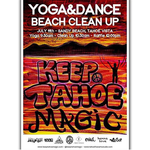 Hope you can make it Saturday. @gbpgremlinz #KeepTahoeClean #BeachYoga #ForRidersByRiders