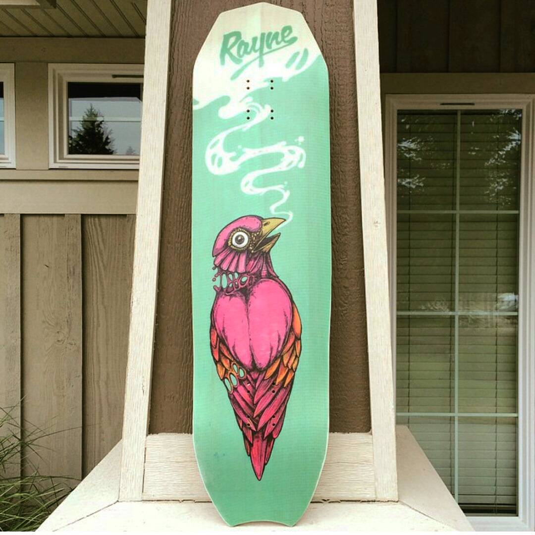 @kurtisscott666 dropping his first of his #RayneChopShop submissions.  Just another example of how you can easily make every board you own a reflection of your creativity and preferences.  Submit your chops by tagging @raynelongboards and...