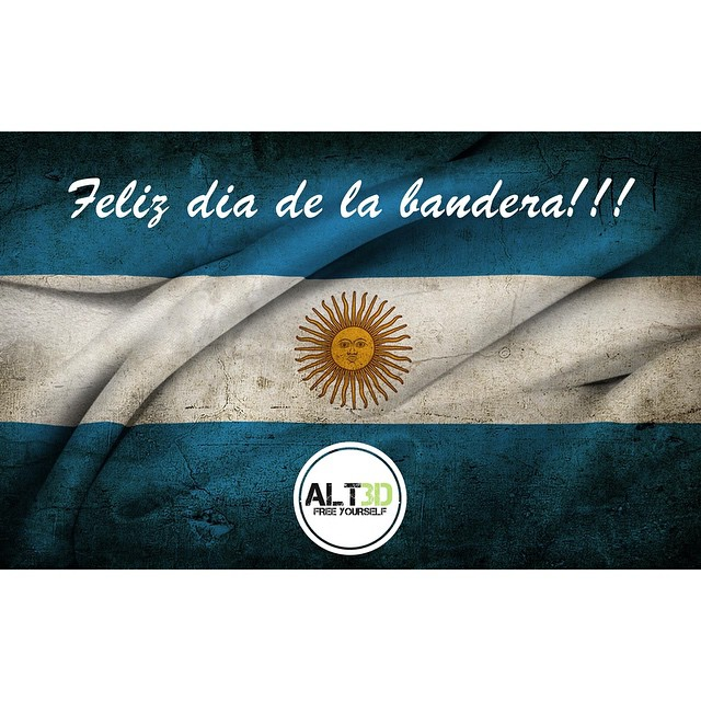 FELIZ DIA DE LA BANDERA! #ALT3D #FreeYourself #20Junio #diadelabandera #argentina #argentine @alt.3d