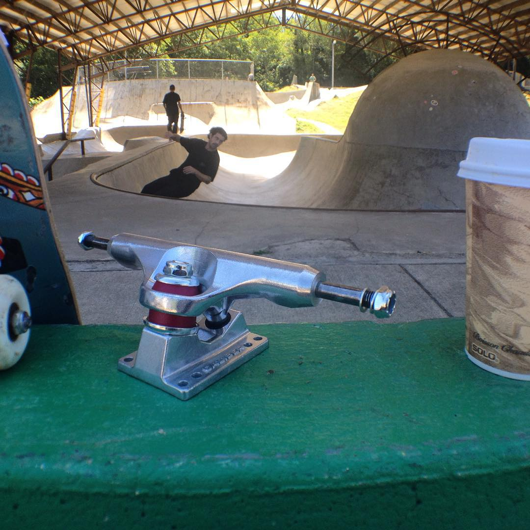 The shred essentials at Lincoln City Park #sk8north #caliberstandards #olloclip shot on @olloclip