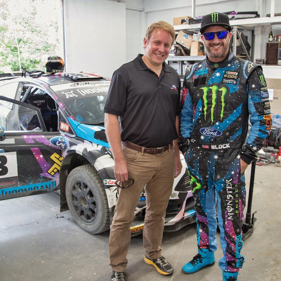 Just took this guy for his first ever ride in a rally car: Mr. Henry Ford III, aka the great great grandson of Henry Ford - the founder of Ford Motor Company. Henry came out to the @TeamOneil Rally School to get a closer look at what rally is all...