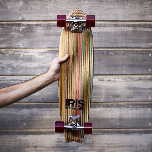 Iris skateboards are available in 7 different shapes. This one here is the Point Break. Check out irisskateboards.com to get one today! #recycledskateboards #irisskateboards #handcrafted