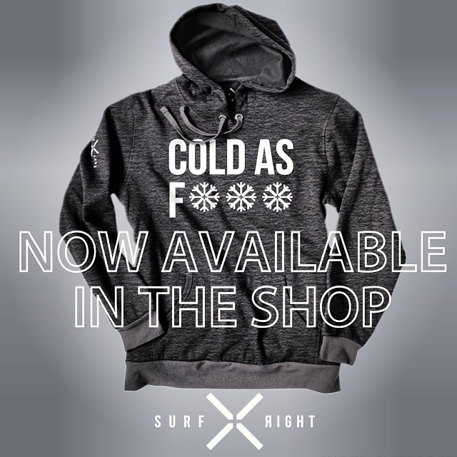 COLD WATER THREADS: Cold As F***! Yup. Deal with it. The waves are better and the crowds are smaller.  Available in most good surf shops including our online store. #coldwaterthreads #surf #coldasf #surfapparel #badass #nowavailable #hoodie #winter...
