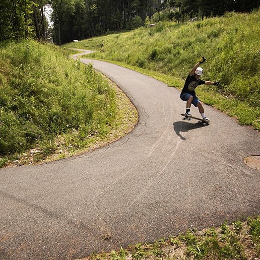 Far up in the northeast @joey_exton has been skating his summer away. Filled with secret paths (like this one) and epic hills, learning new tricks and destroying wheels, the progression and adventure have been nonstop. Photo:@gannon.walsh...