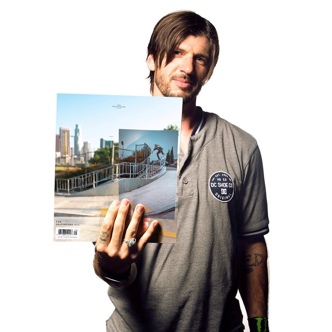 Congrats to @chriscobracole for landing on the cover of the latest issue of @theskateboardmag. Grab yourself a copy at a skateshop near you. #theskateboardmag138 #ChrisCole #DCShoes