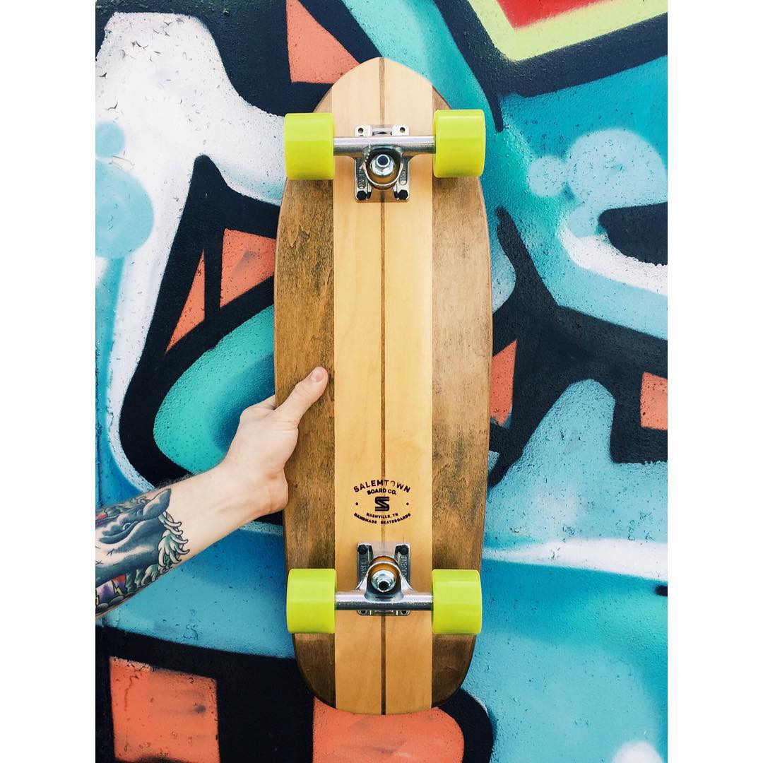 Such a classic little cruiser. Ready for summer. #cruiser #skate #handmade #Nashville