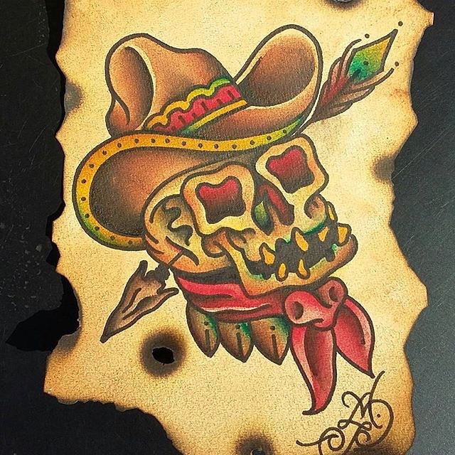 @a.perez_tattoos • • #Texas #tx #tattoo #flash #skull #atx #austintx
