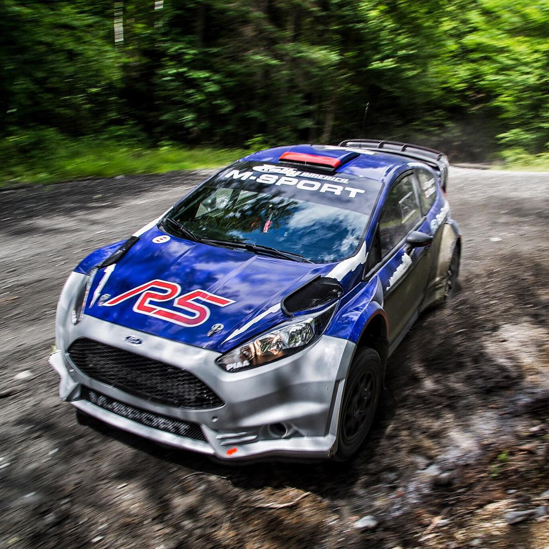 I had the pleasure of taking a few runs in this thing today: the Ford Fiesta R5 2 liter from @MSportLTD. Half the cost of a WRC car, and damn near as fun. I was able to jump right into it and put down times just a second off of my (very developed) Ford...