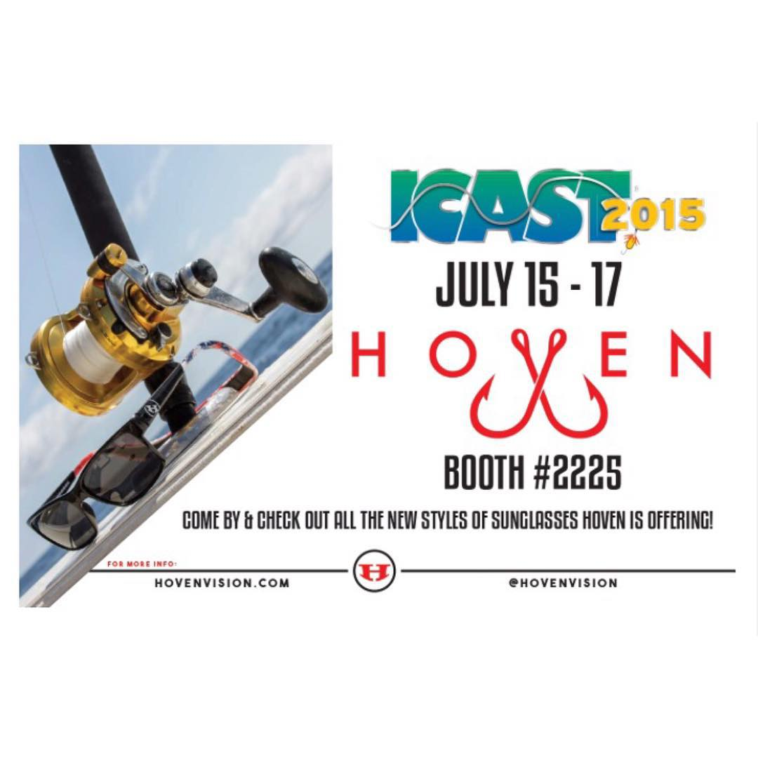 The Hoven team will be showing our amazing floatable sunglasses at iCast Trade Show in Florida! If you're attending to check out all the great brands in the fishing industry, stop on by booth #2225.  #hovenvision #teamhoven #proveit #icast2015...