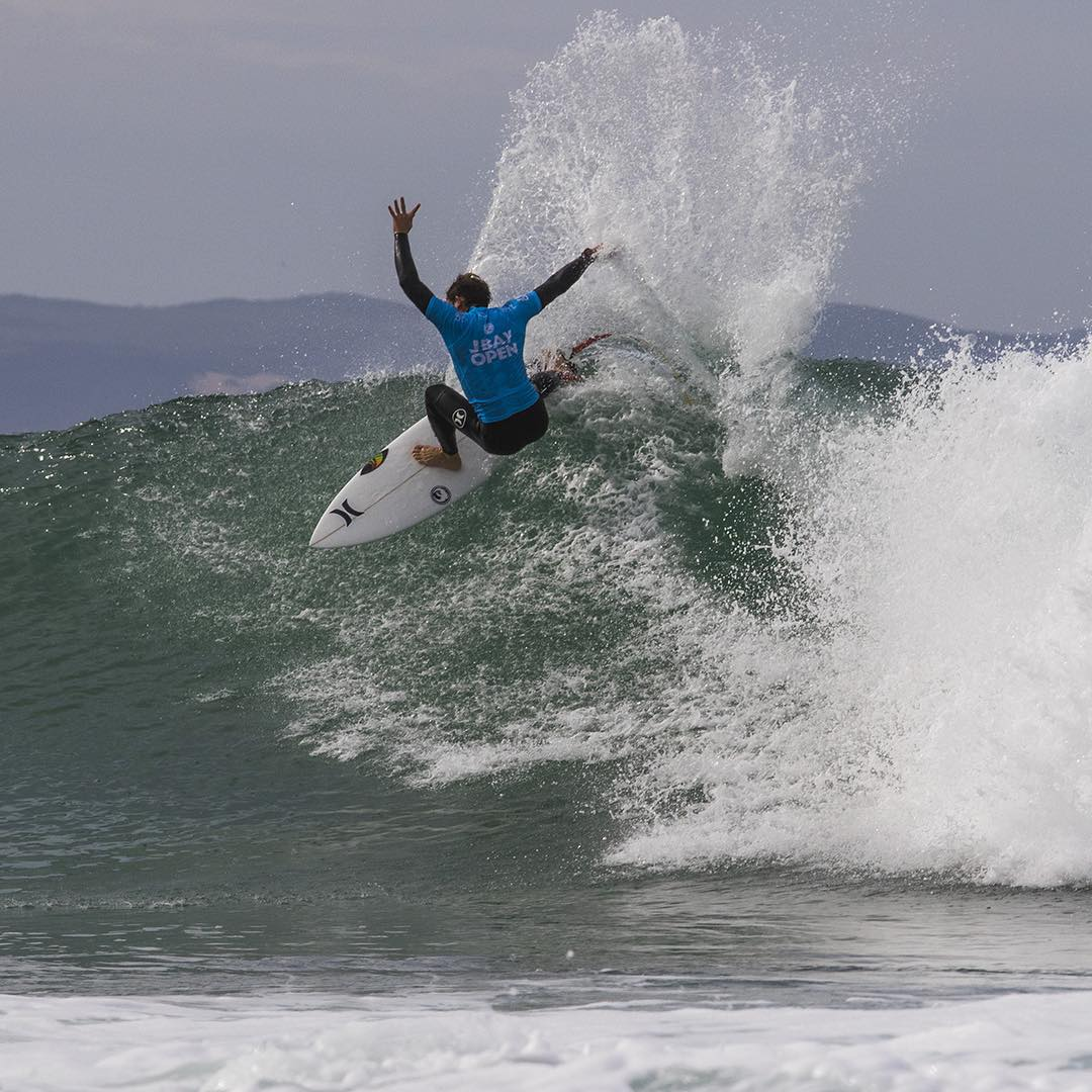 Man of the round, high score of the round, @alejomuniz marches on at the @wsl #JBayOpen in #SouthAfrica. #H2OFloatable