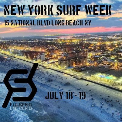 Wear your Fulsend gear and get 40% off at our booth! #surfing #JustSendIt #nysea #nysurfweek #longbeach #skate #surf #beach #skateboarding #boardwalk