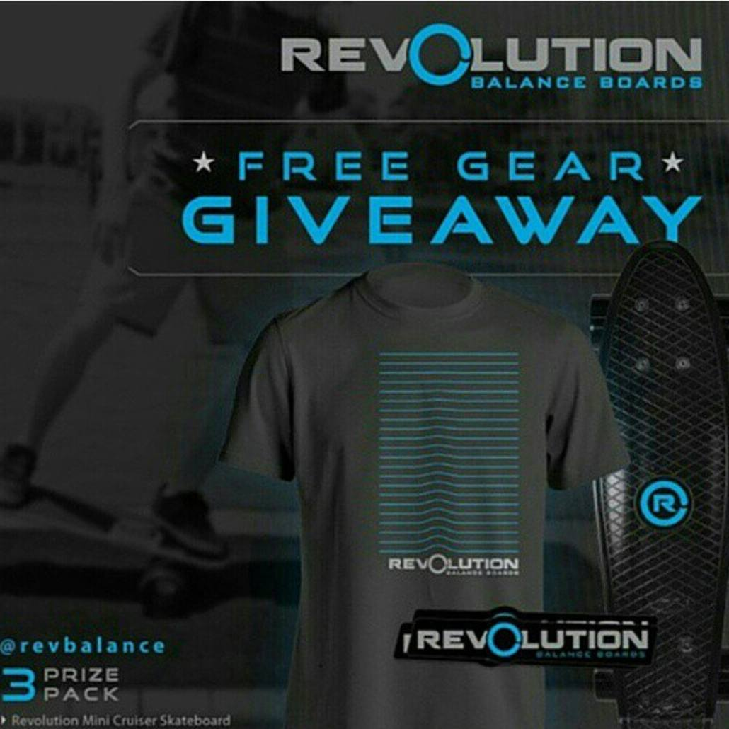 The Revbalance 3 Pack Revolution Giveaway ends soon! Be Sure to get your entries in! ----------------------------------------------- Win A FREE Revolution Gear Pack • Revolution Mini Cruiser Skateboard • Propagate Premium T-Shirt • Revolution Sticker...