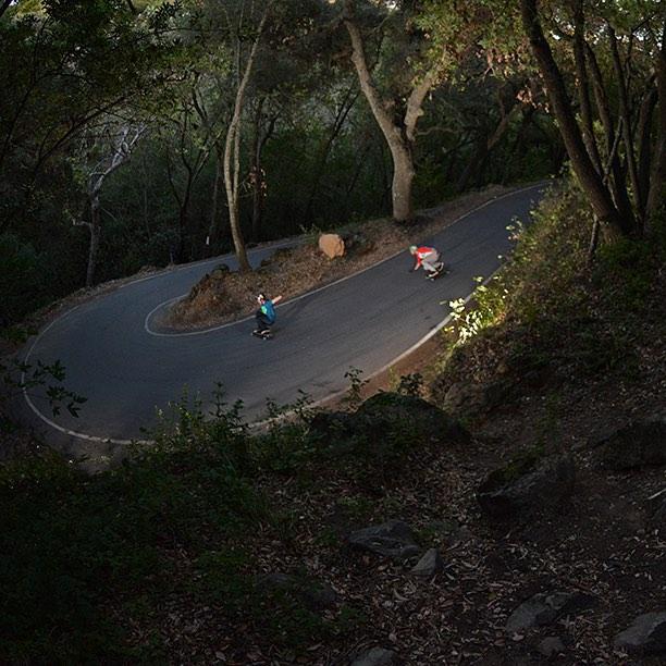 "Sean Woolery and Garrett Creamer enjoying the shade on the Keystone 39"" in California."