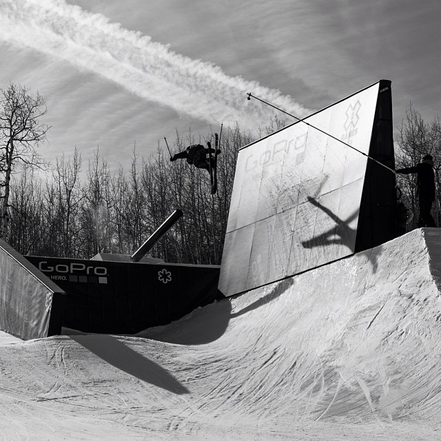 @snowparktech creating the ultimate platform for our athletes in Aspen. #xgames (Photo @petermorning )