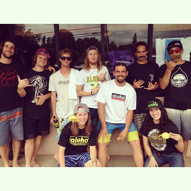 Such a rad team mobbing it island stylie! Thanks to @alohaboardsmaui for showing the team good love! @fillbackside @carmen_sutra @jameskelly_shm @bigdave_hsf @radzani @tyler_howell_sb @brandontissen @kaimanapinto @5ninety5 #calibertrucks