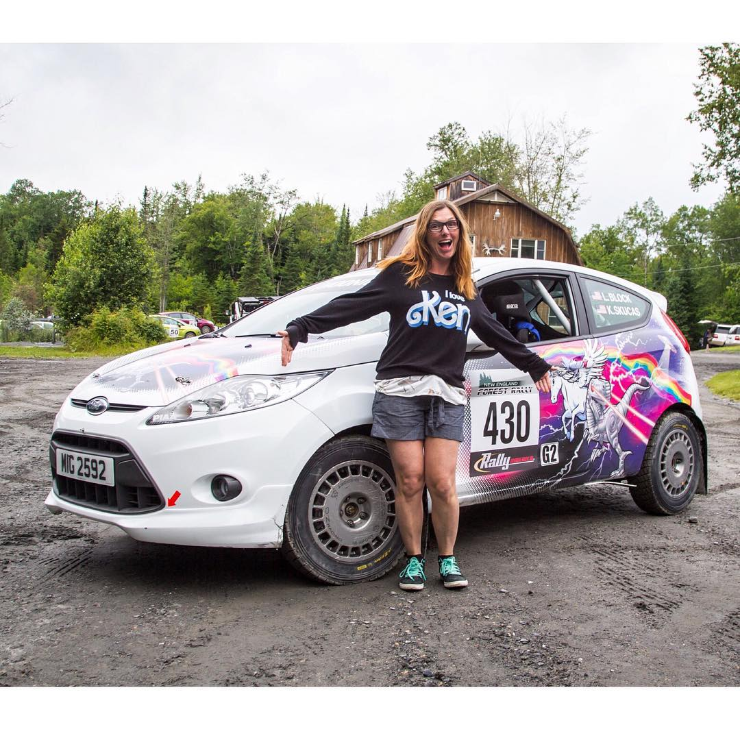 There's yet another @MSportLTD Ford Fiesta testing out here at the @TeamOneil rally school, with my wife behind the wheel! She's racing in the @RallyAmericaSeries' New England Forest Rally with me this weekend, driving this ridiculously awesome...