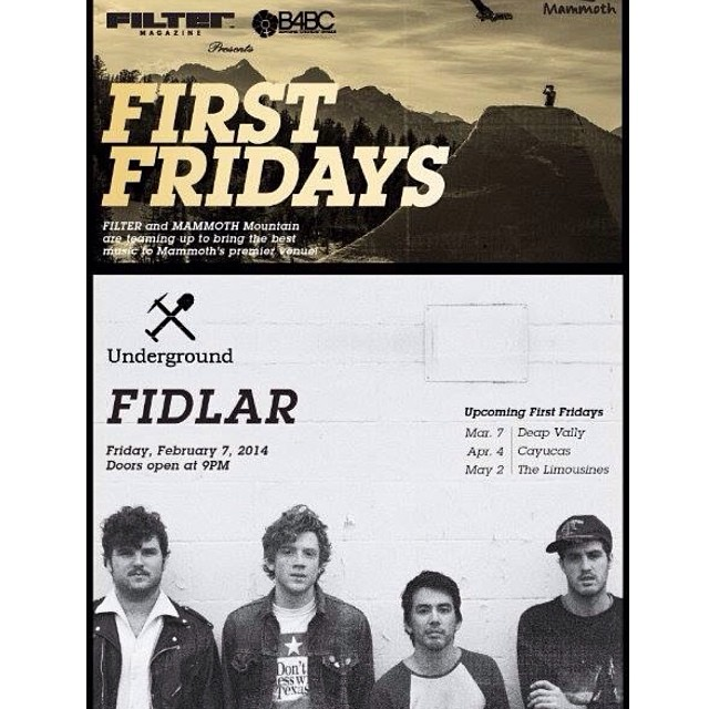 THIS FRIDAY we are so excited to head up to @MammothMountain for the 2nd ever B4BC x @FILTERmagazine First Fridays with @FIDLAR_la at @undergroundmammoth!! Ladies get in for FREE, and the night benefits B4BC. More snow expected this week, get there!