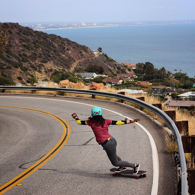 @cindyzskates throws a toeside above sea level on her #Tesseract #loadedboards