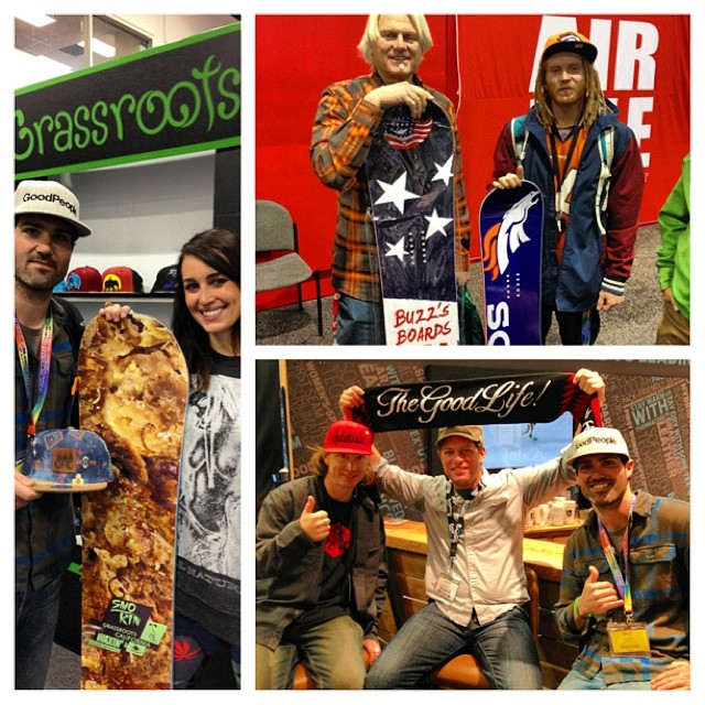 As hard as it was to the leave the snow @mcelberts & @Mearl726 stopped into @siasnowsports to see whats new for 2014 and hang with some #goodpeople @grassrootscalifornia @buzzsboards @buzzschleper @schleper @alexhillinger @wearethegoodlife @robkingwill...