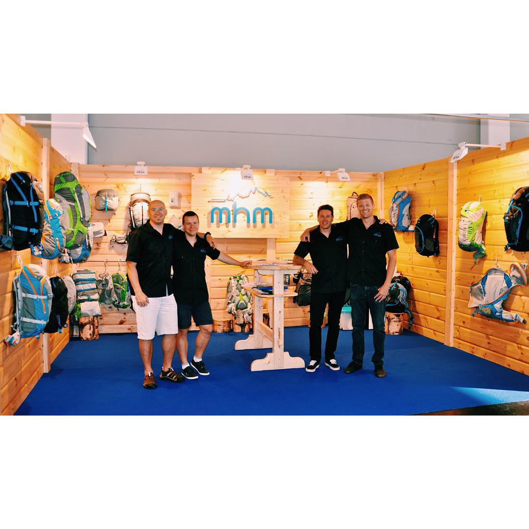 MHM Europe hard at work at OutDoor Friedrichshafen! Slangin' packs and drinking superfluous amounts of Czech and German beer. Na zdraví! #MHMtakesEurope