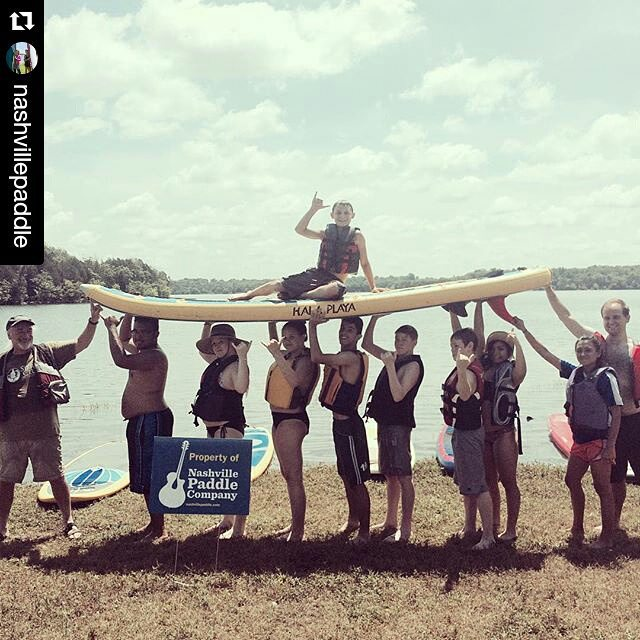#Repost from @nashvillepaddle ・・・ Joining up with Inspiring Connections Outdoors for a great morning of paddling.  #sierraclub #surfsupmikey #outdoornashville #SUPnashvegas